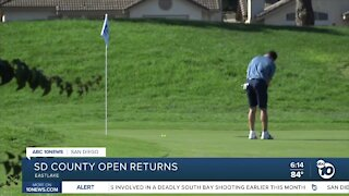 San Diego County Open returns