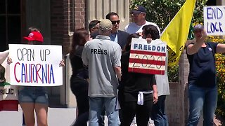 Re-open protest held in downtown Bakersfield