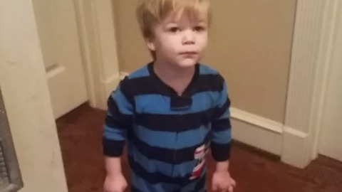 A Toddler Unlocks His Sister's Door With The Secret Key