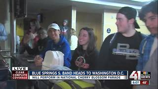 Blue Springs South High School band traveling to Washington D.C. for parade
