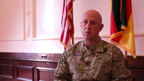 Interview for Colonel James McCandless, commander of the 174th Air Defense Artillery Brigade