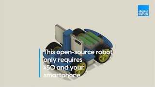 This open-source robot only requires $50 and your smartphone.
