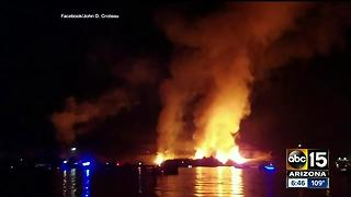Fireworks show sparks wildfire in Parker - Video