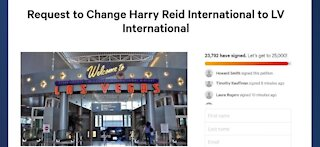 Online petition gaining further support to halt Harry Reid's name on Las Vegas airport