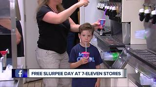 7-Eleven giving out free Slurpees today to celebrate 91st birthday - Video