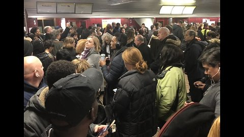 Commuters Face Huge Delays at New York Port Authority Bus Terminal After Snowstorm