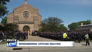 Procession for fallen Cleveland officer Vu Nguyen