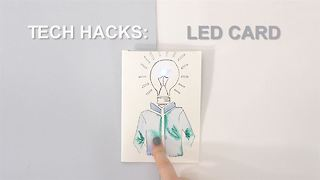 Tech hacks: simple LED gift card - Video