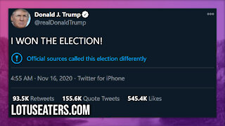 Trump Did Not Concede the Election