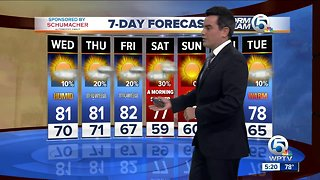 Latest Weather Forecast 5 p.m. Tuesday