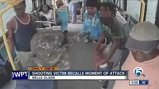 Bus stop shooting victim recalls attack - Video