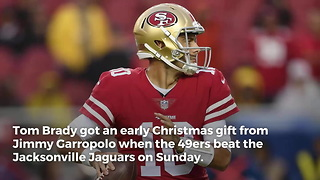 Jimmy Garoppolo Sends Tom Brady Early Christmas Gift With Win Over Jaguars - Video