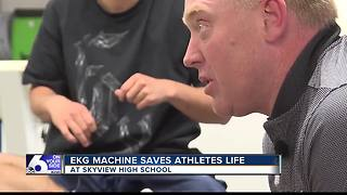 EKG Machine saves athletes life at Skyview HS - Video