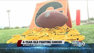 Football team rallies around 4-year-old diagnosed with cancer