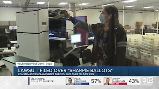 Lawsuit filed over 'Sharpie' ballots