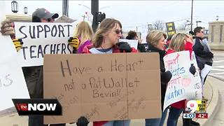 Kentucky teachers rally for education funding - Video