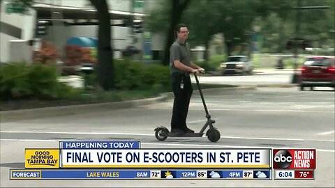 Final vote on e-scooters in St. Pete to happen today