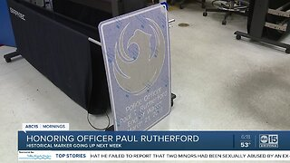 Honoring Officer Paul Rutherford