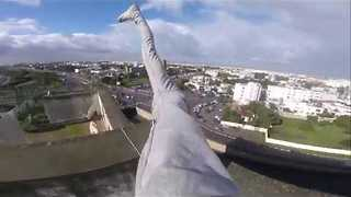 Daredevil Takes Workout to Great Heights - Video