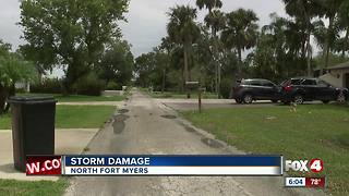 Storm damage recorded in North Fort Myers - Video