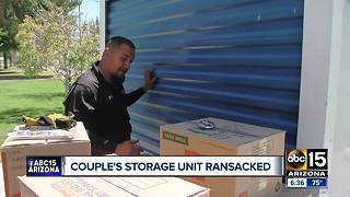 Valley couple's POD storage unit ransacked - Video