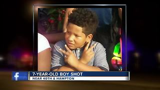 7-year-old recovering after shot in his home - Video