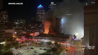 Cleanup begins after downtown Tampa restaurant severely damaged by large fire