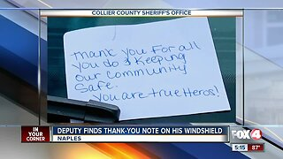 Collier County deputy receives thank you note
