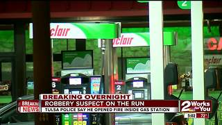 Armed robber shoots into South Tulsa convenience store - Video