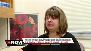 Mentor woman uses personal experience to warn others about brain aneurysms - Video