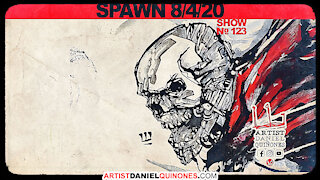Drawing Spawn without picking up pen | Art, comic-book inspiration | Time-Lapse | Aug 4, 2020