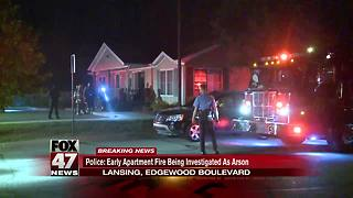 Police suspect arson in early morning fire at Lansing apartment leasing office - Video