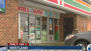 Only on 7: Woman saves 7-Eleven clerk after shooting at store - Video