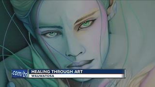 'Life-changing experience': Art therapy classes help cancer patients heal - Video