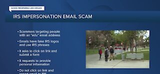 IRS warning university students, staff about new tax scam