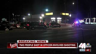 Two hurt in officer-involved shooting - Video