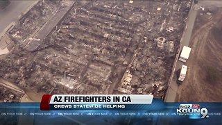 Arizona firefighters helping fight California wildfires