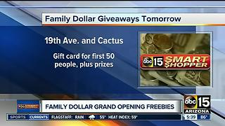 Family Dollar grand opening specials - Video