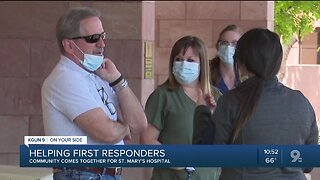 Siblings rally community to support first responders