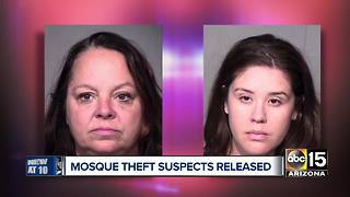 Tempe mosque theft suspects released from jail - Video