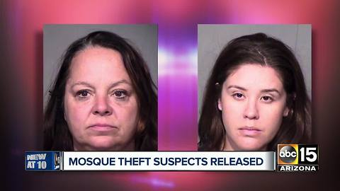 Tempe mosque theft suspects released from jail