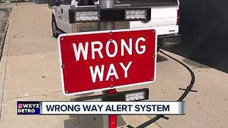 Wrong Way alert system - Video