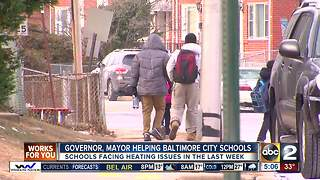 Mayor Pugh tours schools, Baltimore City School District pledge to open and warm schools - Video