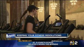 Keeping your fitness resolutions