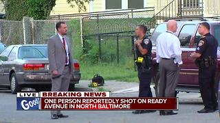 Man shot on Ready Ave in N. Baltimore - Video
