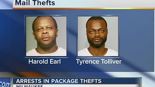 Two Milwaukee men charged with stealing packages of people's porches - Video
