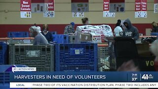 Harvesters in need of volunteers