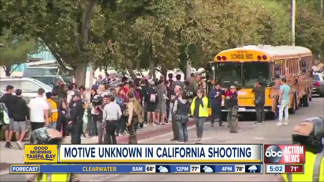 Motive unknown in California high school shooting