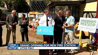 Grand opening for new fire station in Little Italy - Video
