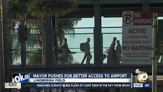 Mayor pushes for better airport access
